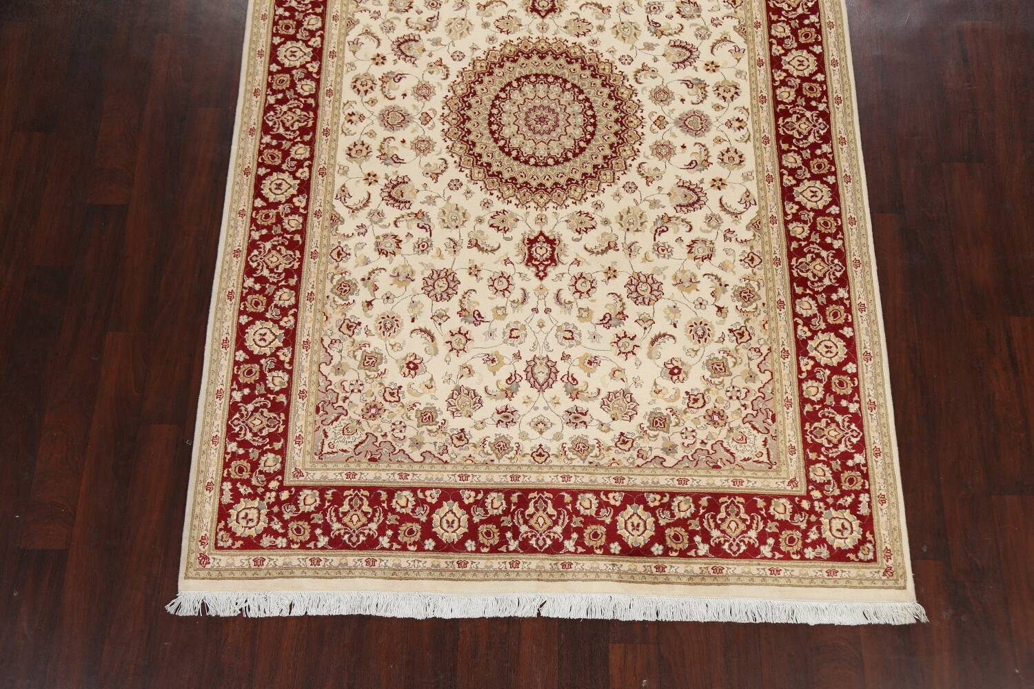 100% Vegetable Dye Floral Tabriz Oriental Area Rug 6x9 image 5
