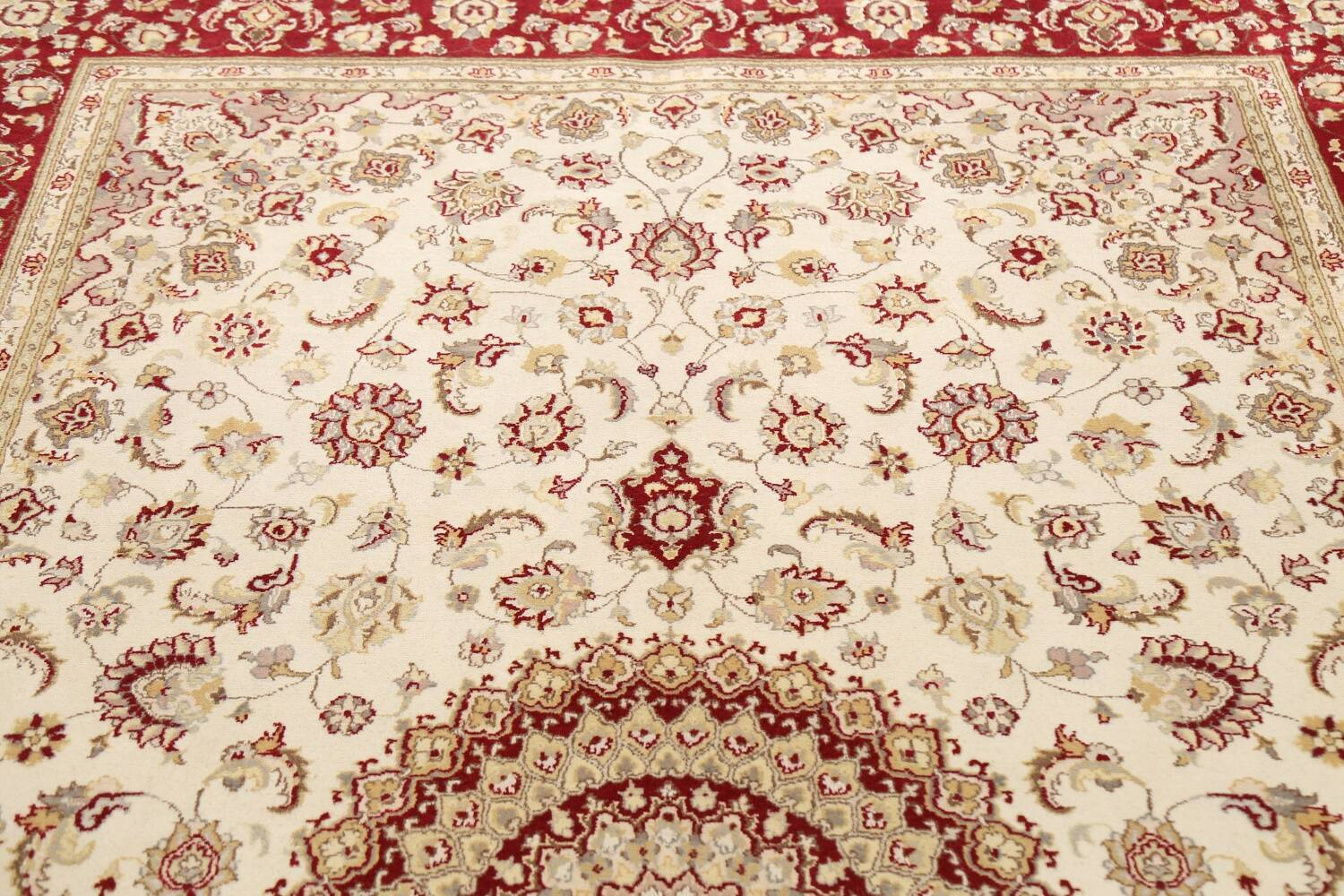 100% Vegetable Dye Floral Tabriz Oriental Area Rug 6x9 image 10
