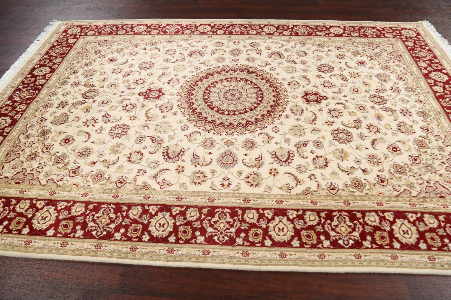 100% Vegetable Dye Floral Tabriz Oriental Area Rug 6x9 image 13