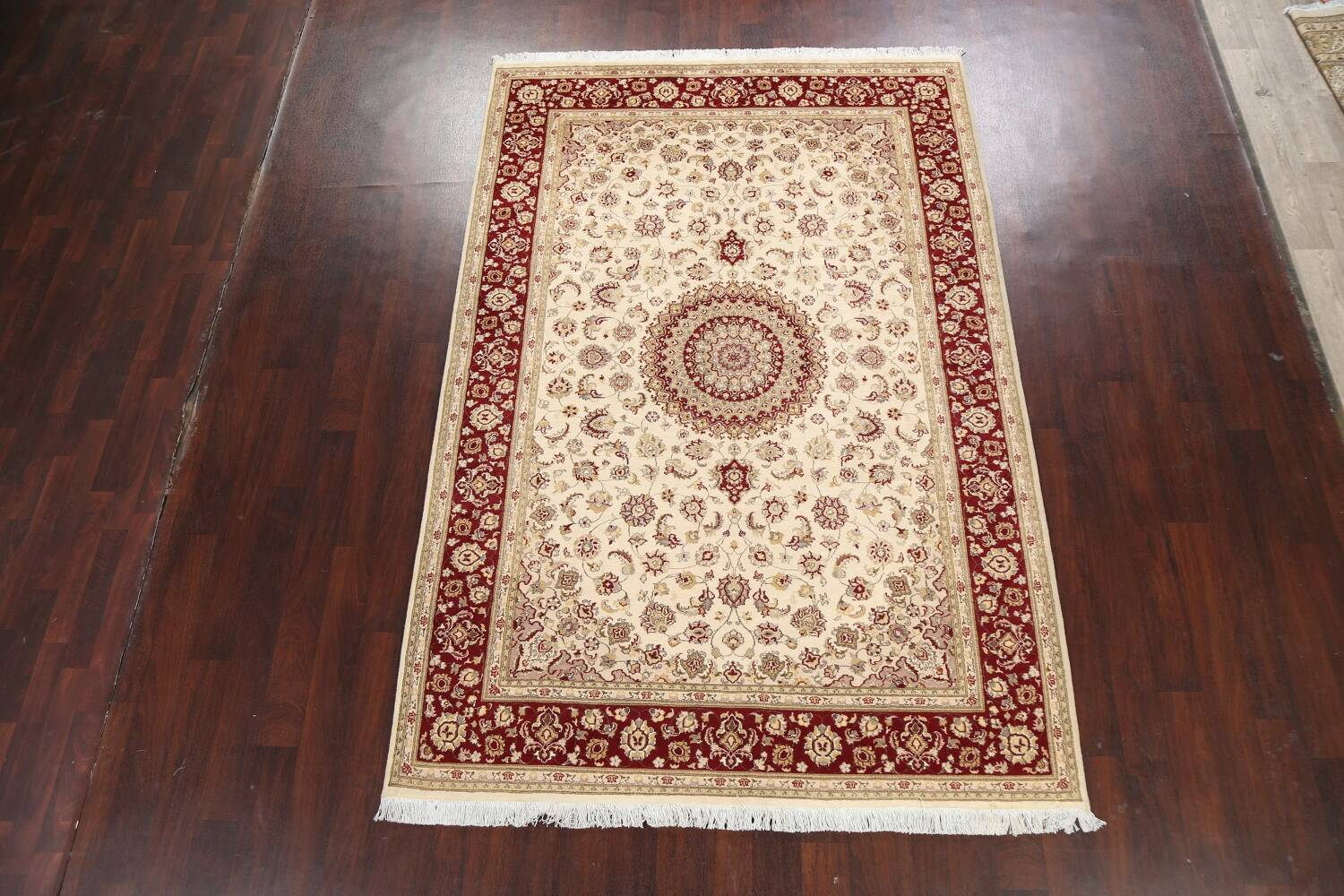 100% Vegetable Dye Floral Tabriz Oriental Area Rug 6x9 image 14