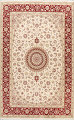 100% Vegetable Dye Floral Tabriz Oriental Area Rug 6x9 image 1