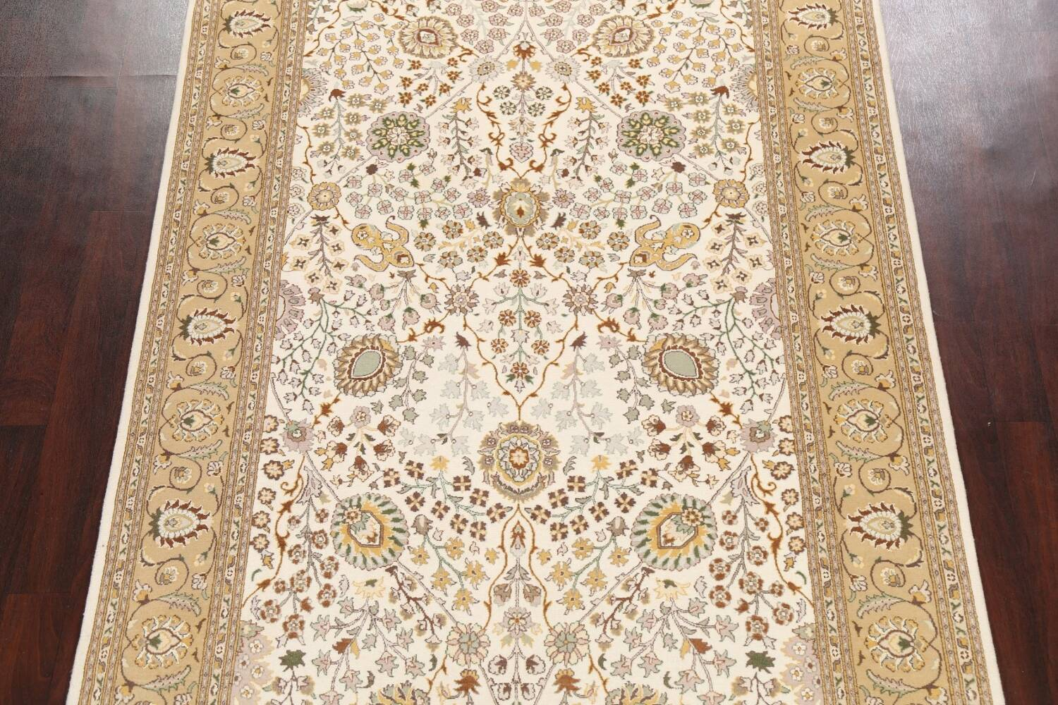 Vegetable Dye Floral Tabriz Oriental Area Rug 6x9 image 3