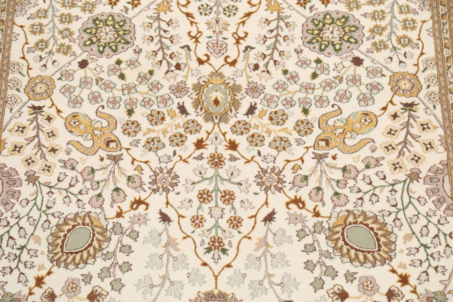 Vegetable Dye Floral Tabriz Oriental Area Rug 6x9 image 4