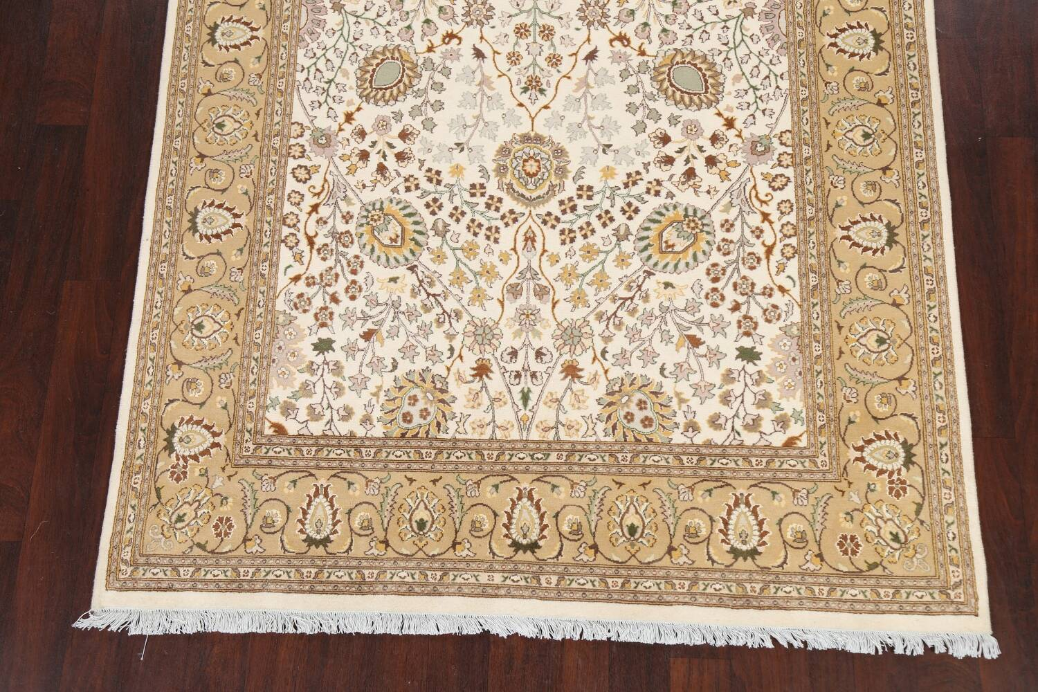 Vegetable Dye Floral Tabriz Oriental Area Rug 6x9 image 5