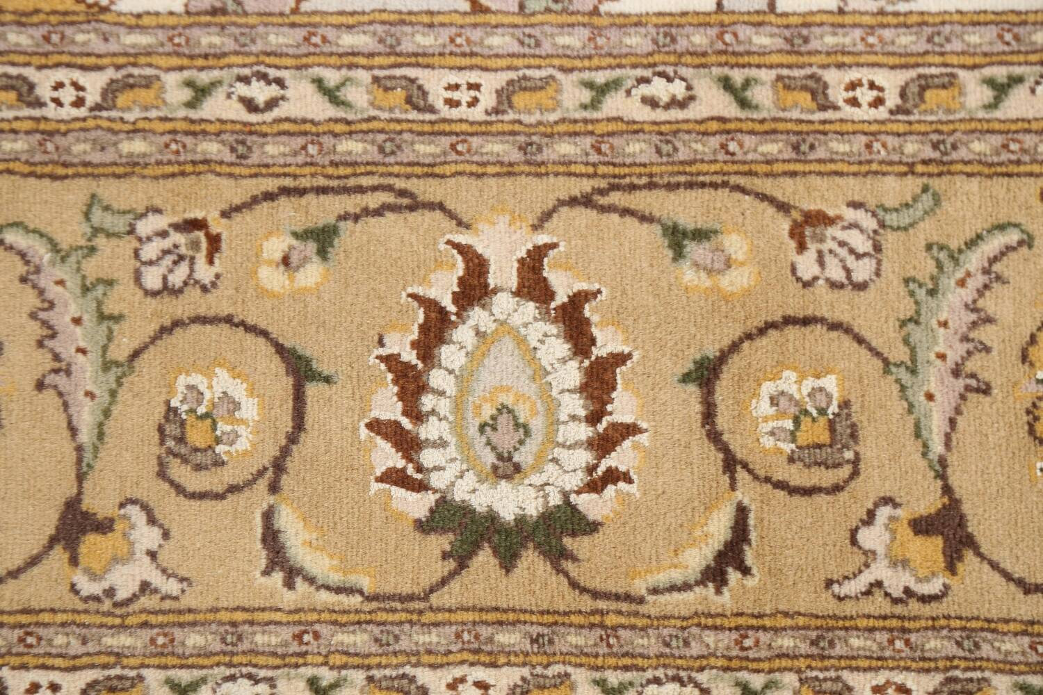 Vegetable Dye Floral Tabriz Oriental Area Rug 6x9 image 8
