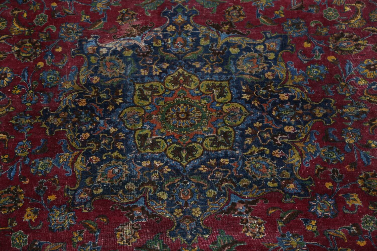 Traditional Floral Mashad Persian Area Rug 9x13 image 4