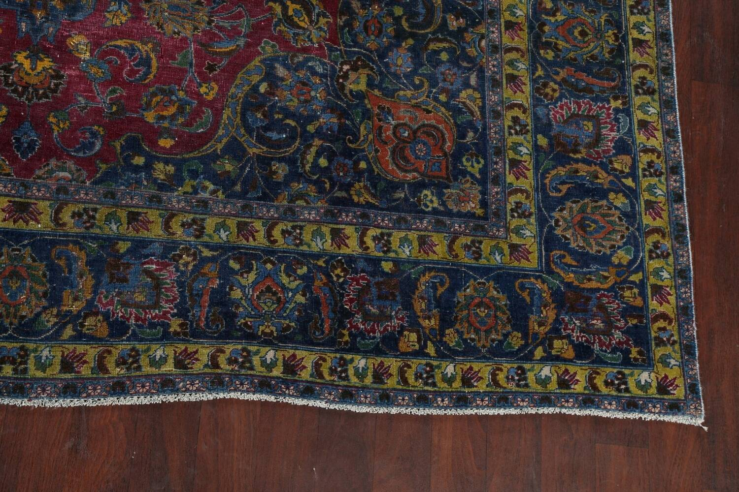 Traditional Floral Mashad Persian Area Rug 9x13 image 6