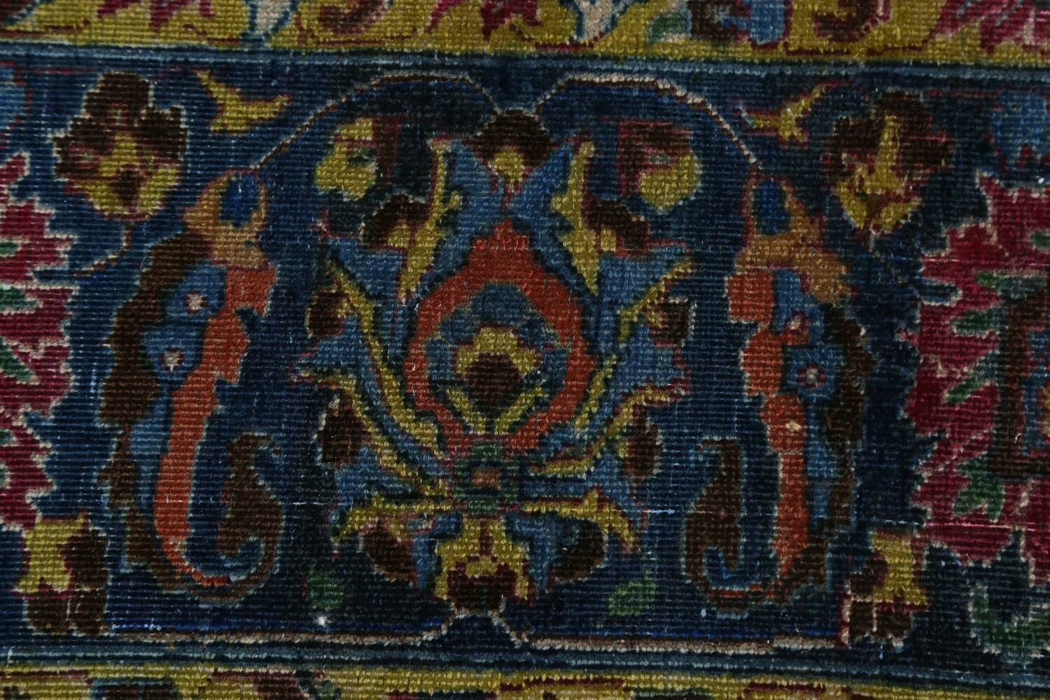 Traditional Floral Mashad Persian Area Rug 9x13 image 8