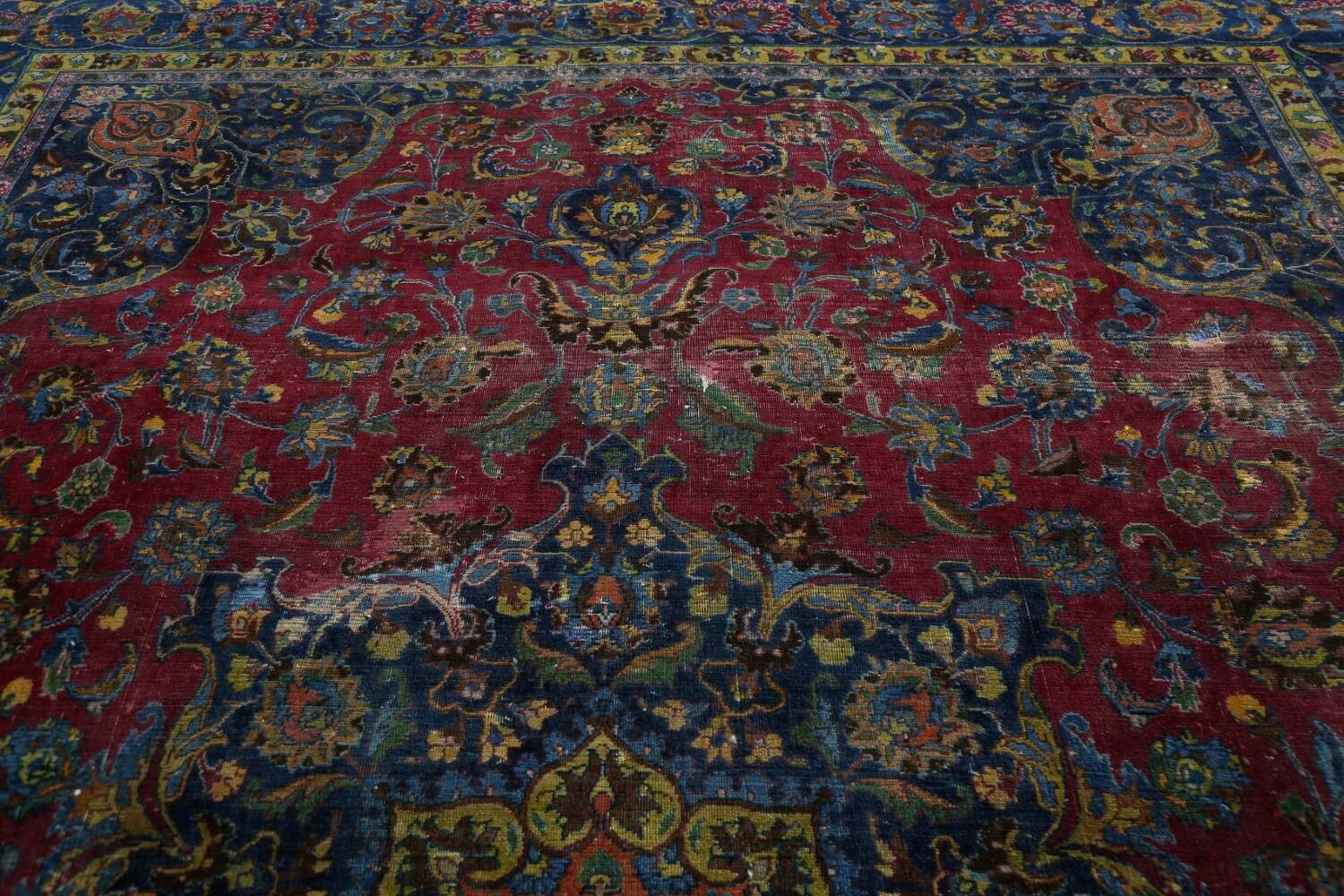 Traditional Floral Mashad Persian Area Rug 9x13 image 11
