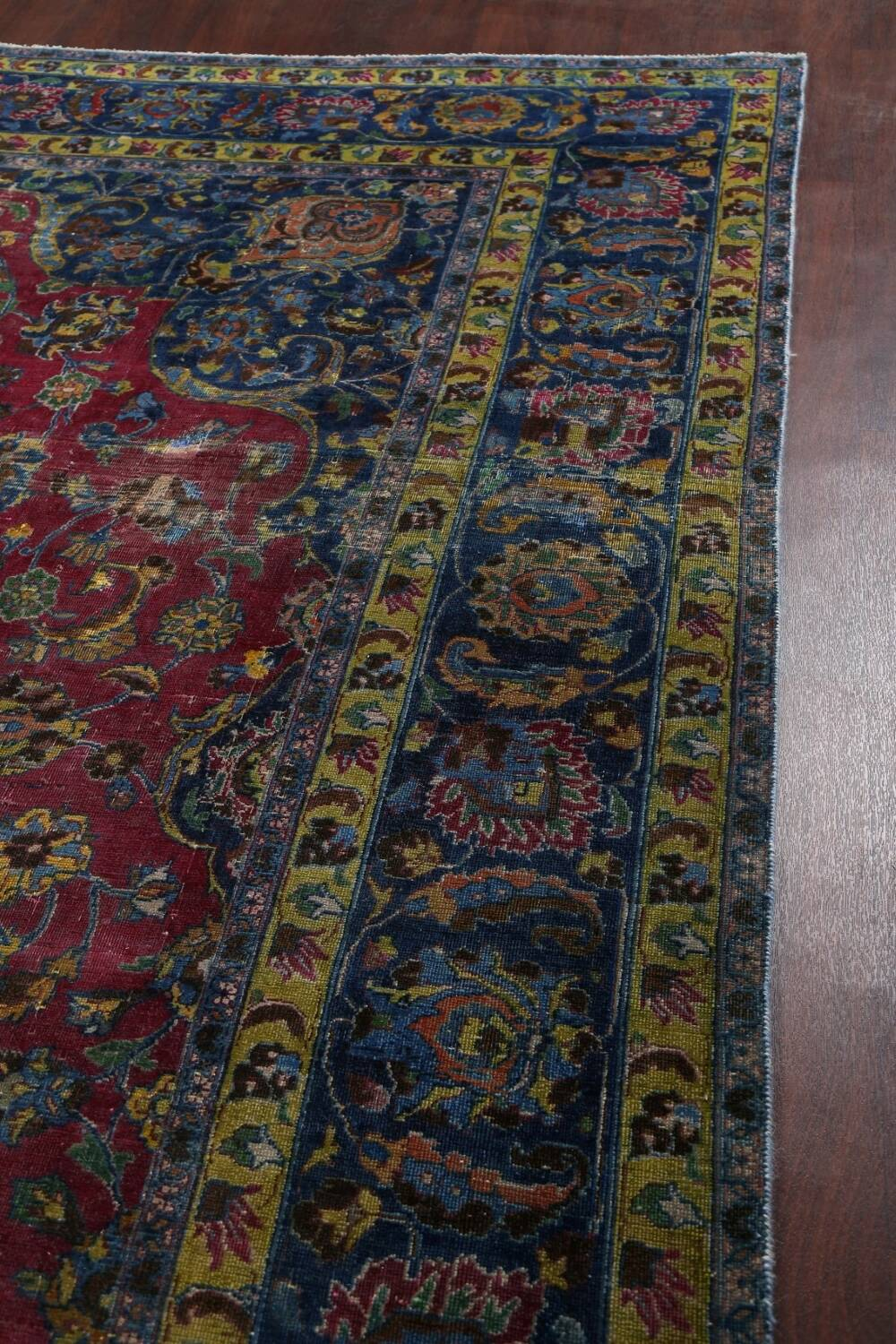 Traditional Floral Mashad Persian Area Rug 9x13 image 13