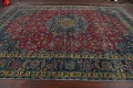 Traditional Floral Mashad Persian Area Rug 9x13 image 14