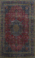 Traditional Floral Mashad Persian Area Rug 9x13 image 1