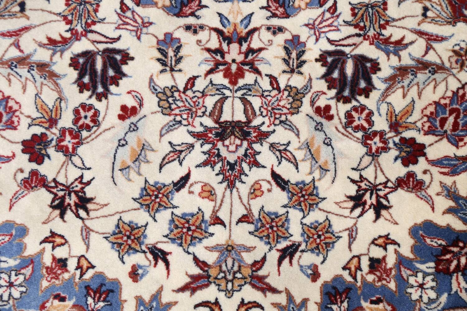 Floral Isfahan Persian Area Rug 6x6 Round image 8