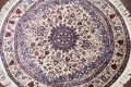 Floral Isfahan Persian Area Rug 6x6 Round image 3
