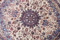 Floral Isfahan Persian Area Rug 6x6 Round image 4