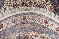 Floral Isfahan Persian Area Rug 6x6 Round image 7
