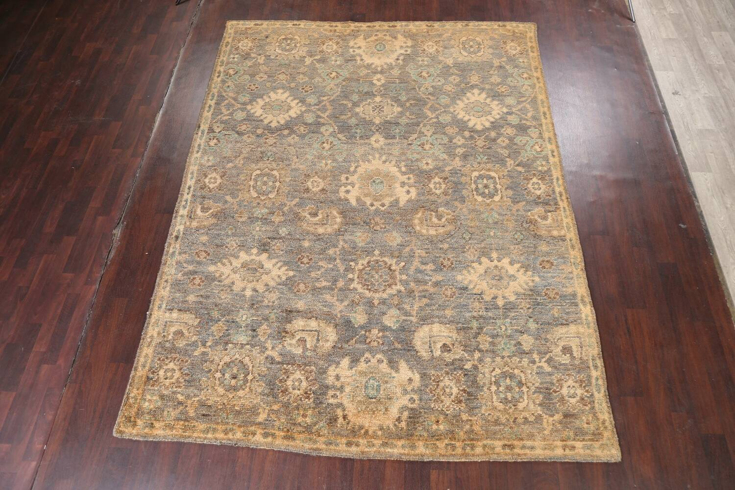 All-Over Oushak Oriental Area Rug 5x8 image 2