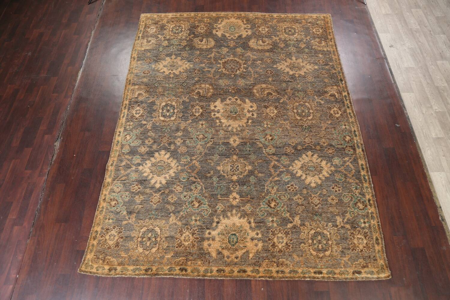 All-Over Oushak Oriental Area Rug 5x8 image 12
