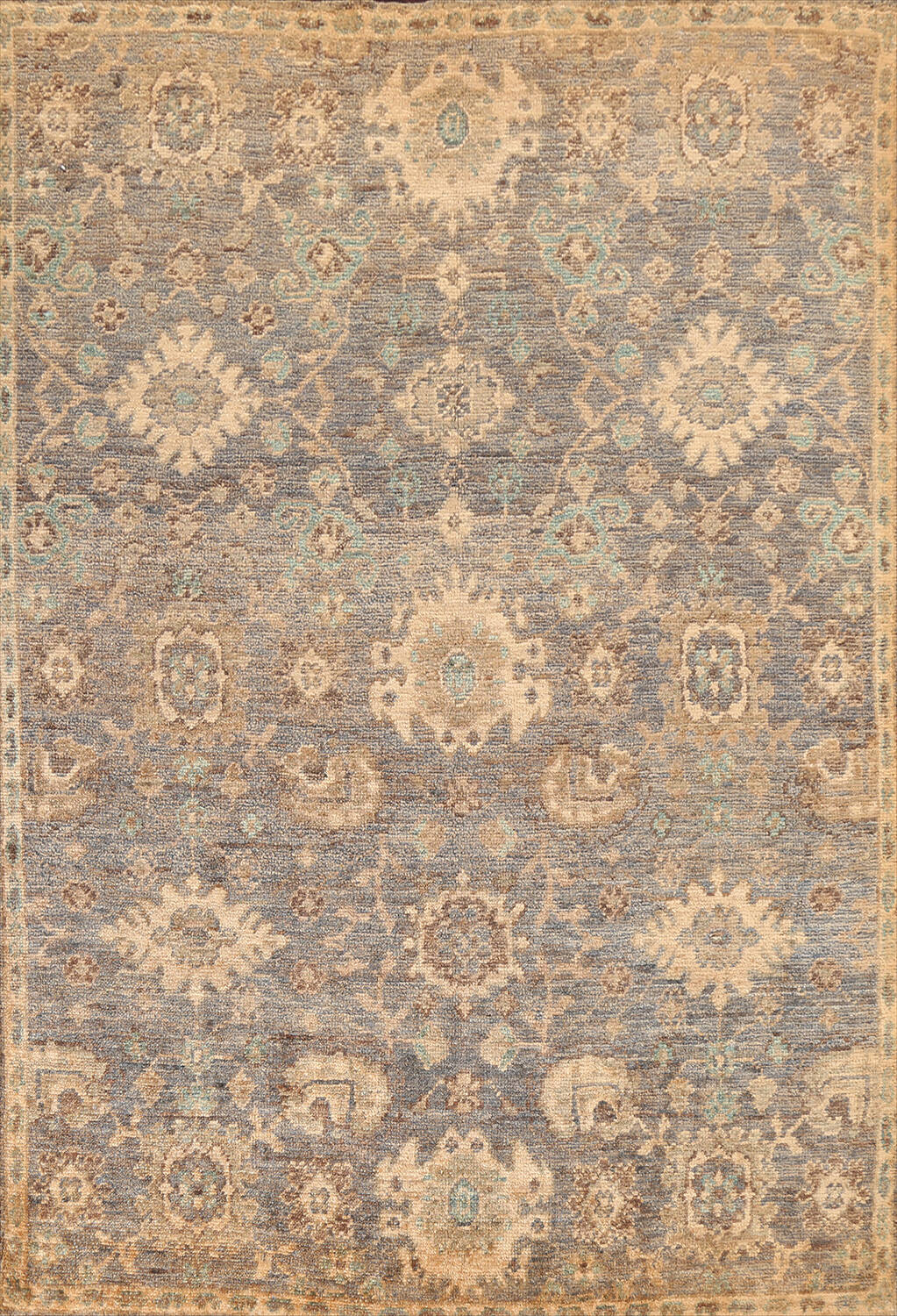 All-Over Oushak Oriental Area Rug 5x8 image 1