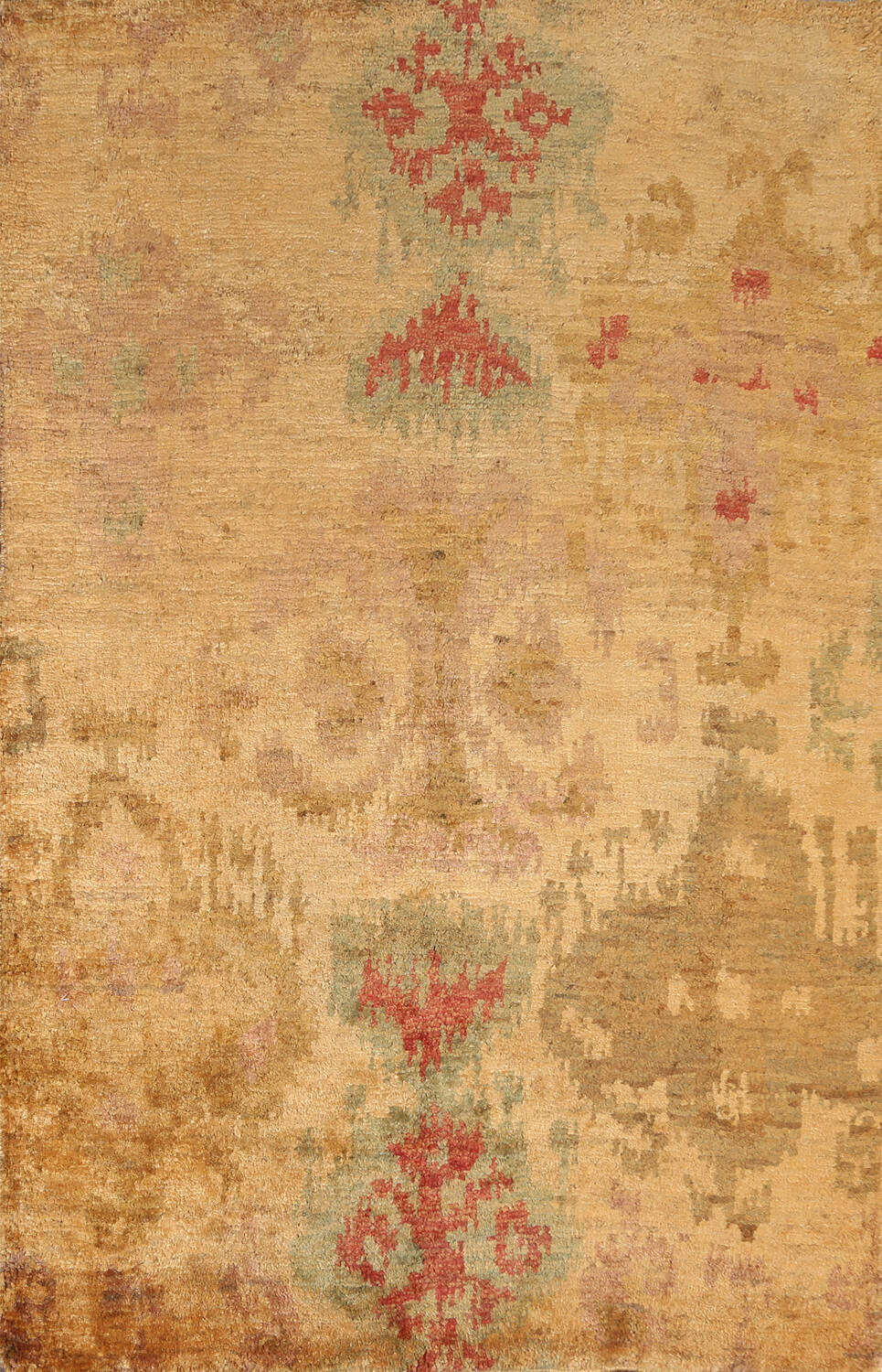 Abstract Oriental Area Rug 6x8 image 1