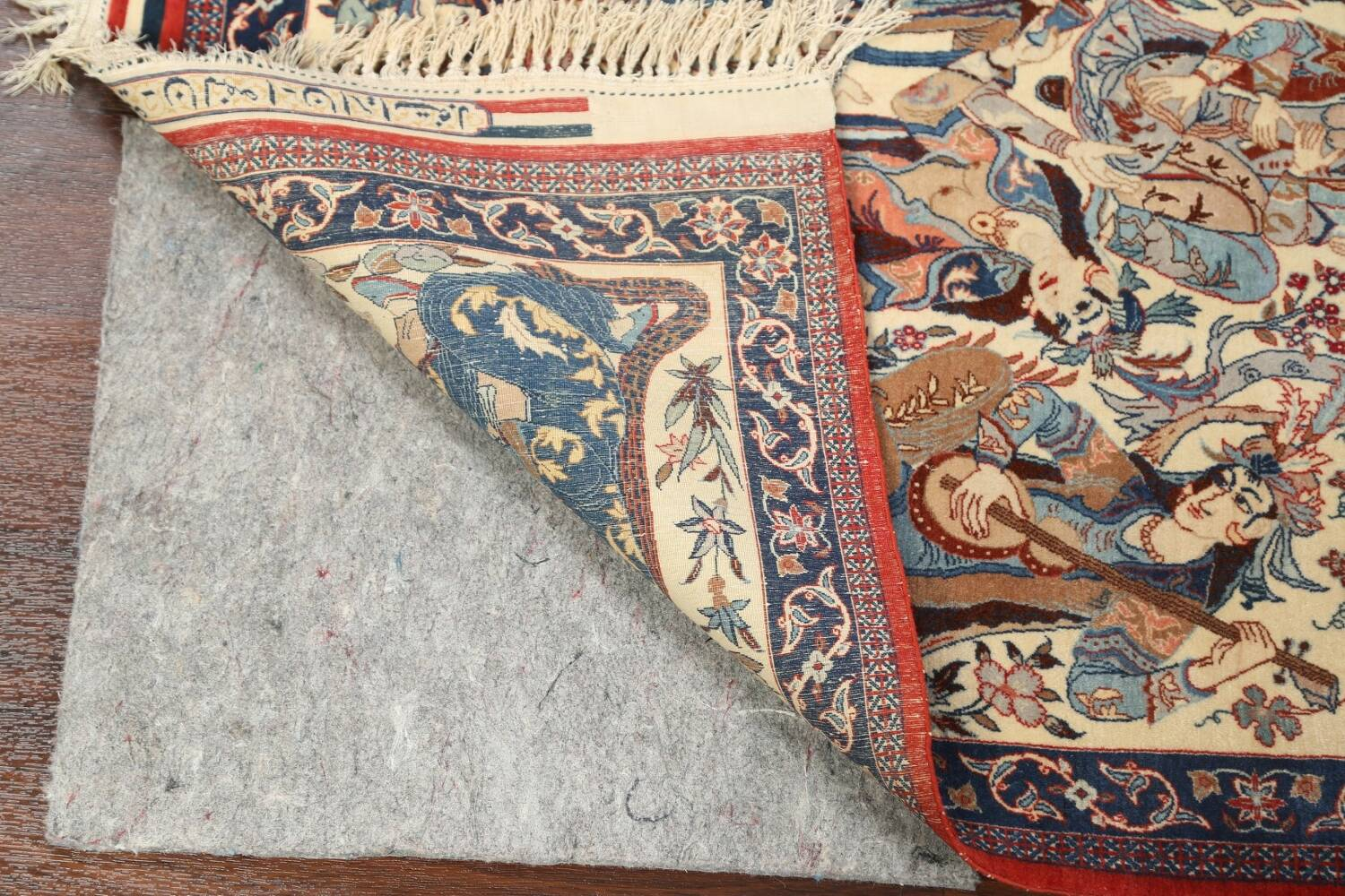 Antique Vegetable Dye Tableau Isfahan Persian Area Rug 2x3 image 7