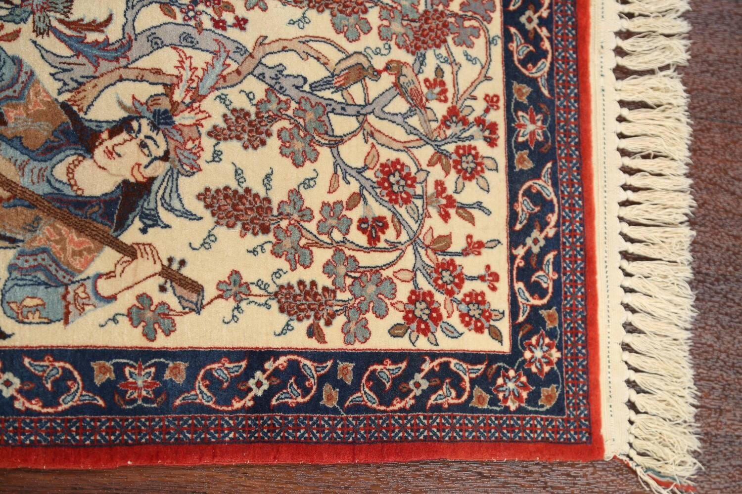 Antique Vegetable Dye Tableau Isfahan Persian Area Rug 2x3 image 10