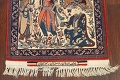 Antique Vegetable Dye Tableau Isfahan Persian Area Rug 2x3 image 5