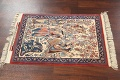 Antique Vegetable Dye Tableau Isfahan Persian Area Rug 2x3 image 11
