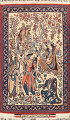 Antique Vegetable Dye Tableau Isfahan Persian Area Rug 2x3 image 1