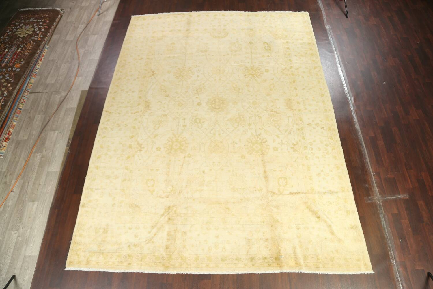 Muted Floral Oushak Oriental Area Rug 10x14 image 2