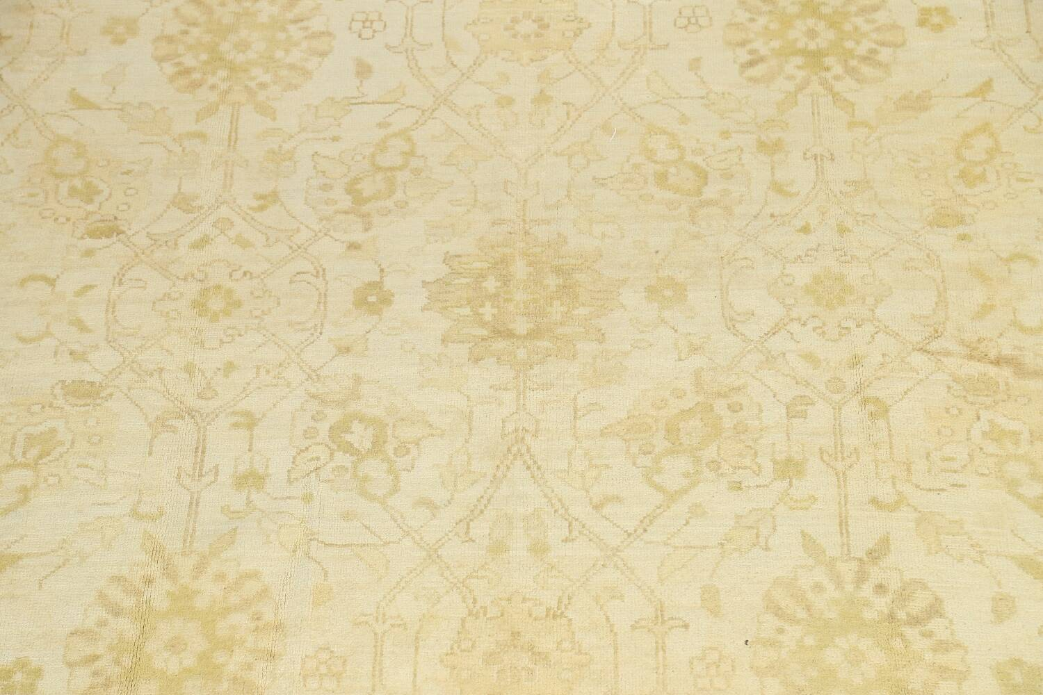 Muted Floral Oushak Oriental Area Rug 10x14 image 4