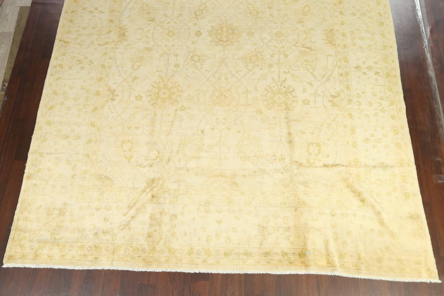 Muted Floral Oushak Oriental Area Rug 10x14 image 5
