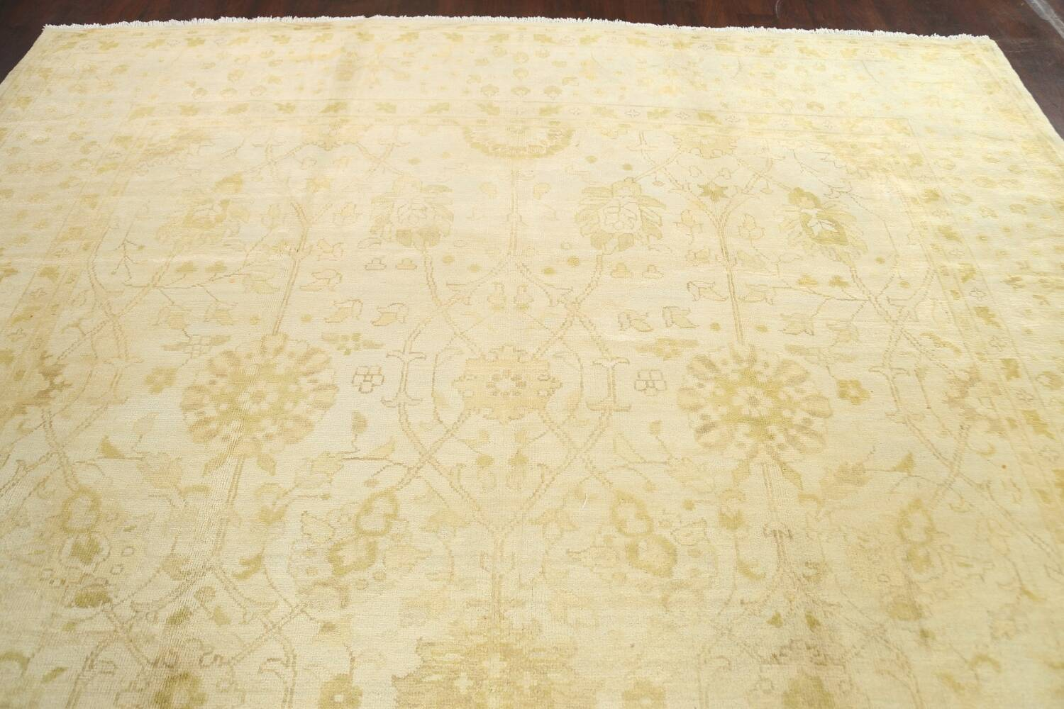 Muted Floral Oushak Oriental Area Rug 10x14 image 12