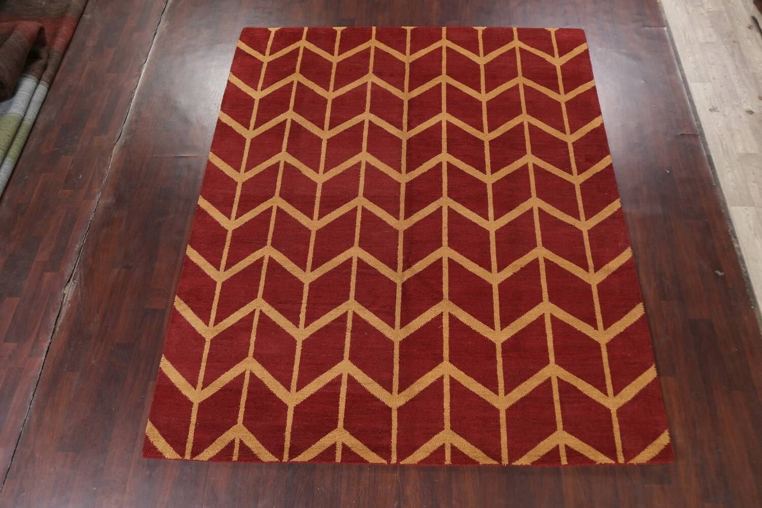 All-Over Moroccan Wool Area Rug 8x10 image 12