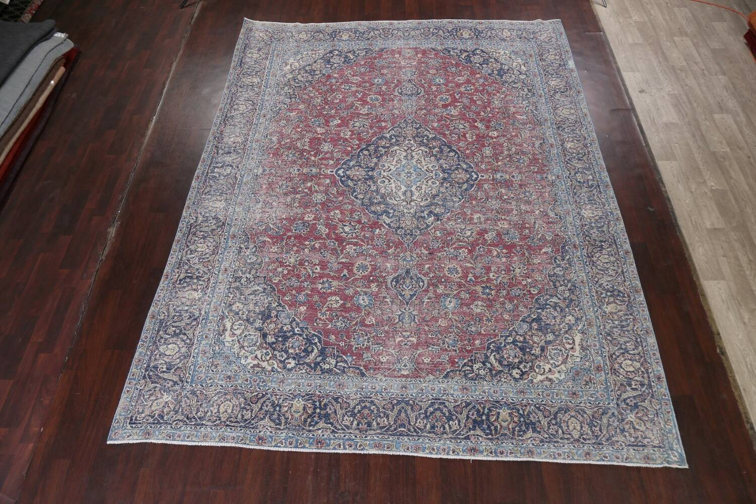 Antique Traditional Kashan Persian Rug 9x12 image 2