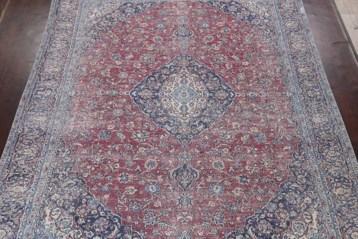 Antique Traditional Kashan Persian Rug 9x12 image 3
