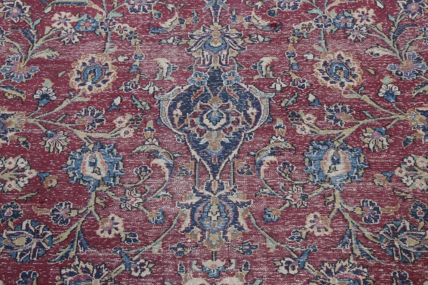 Antique Traditional Kashan Persian Rug 9x12 image 9
