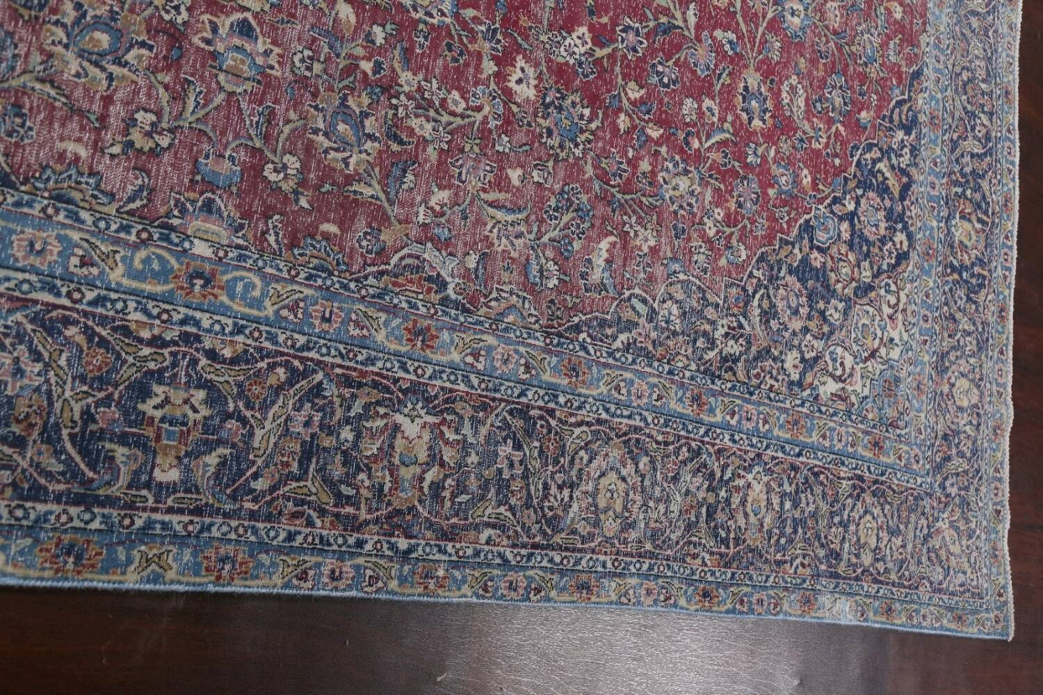 Antique Traditional Kashan Persian Rug 9x12 image 13