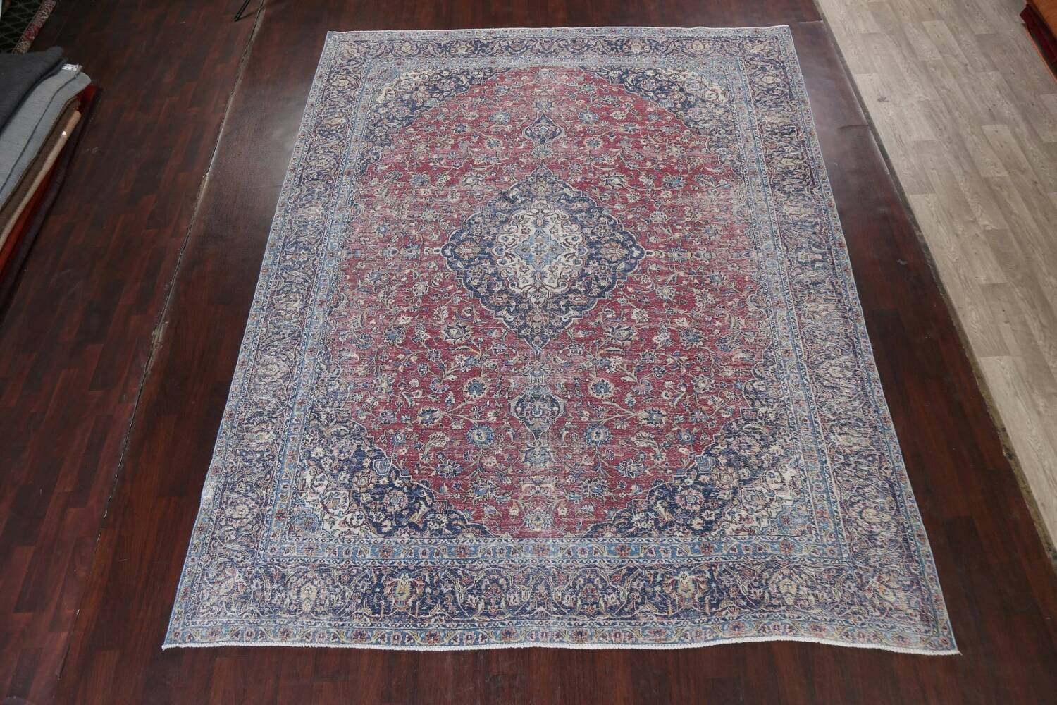 Antique Traditional Kashan Persian Rug 9x12 image 15