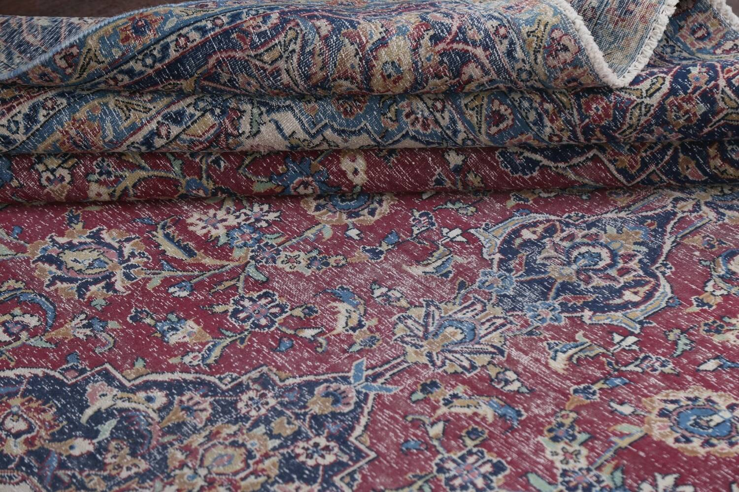 Antique Traditional Kashan Persian Rug 9x12 image 16