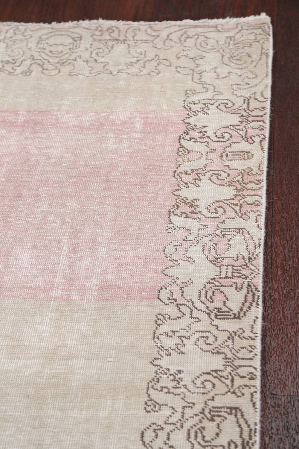 Muted Distressed Tabriz Persian Runner Rug 3x19 image 12