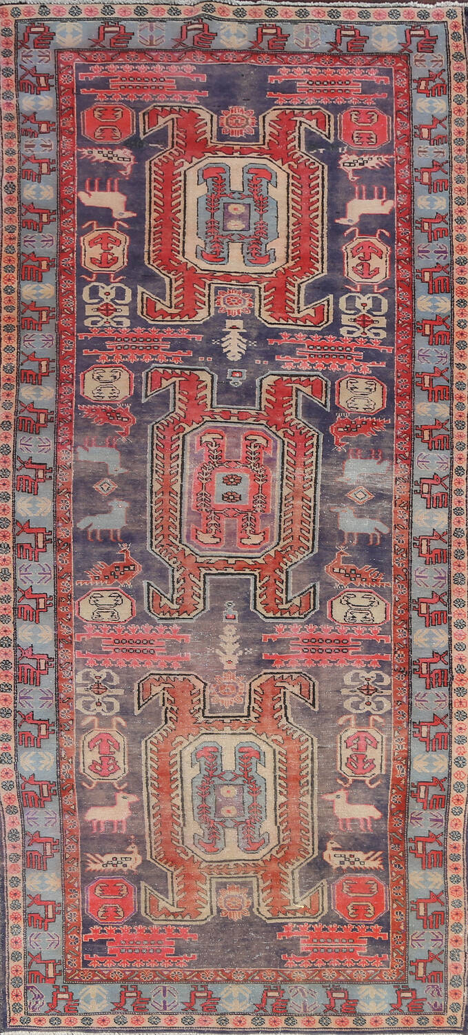 Hand-Knotted Ardebil Persian Area Rug 5x11 image 1
