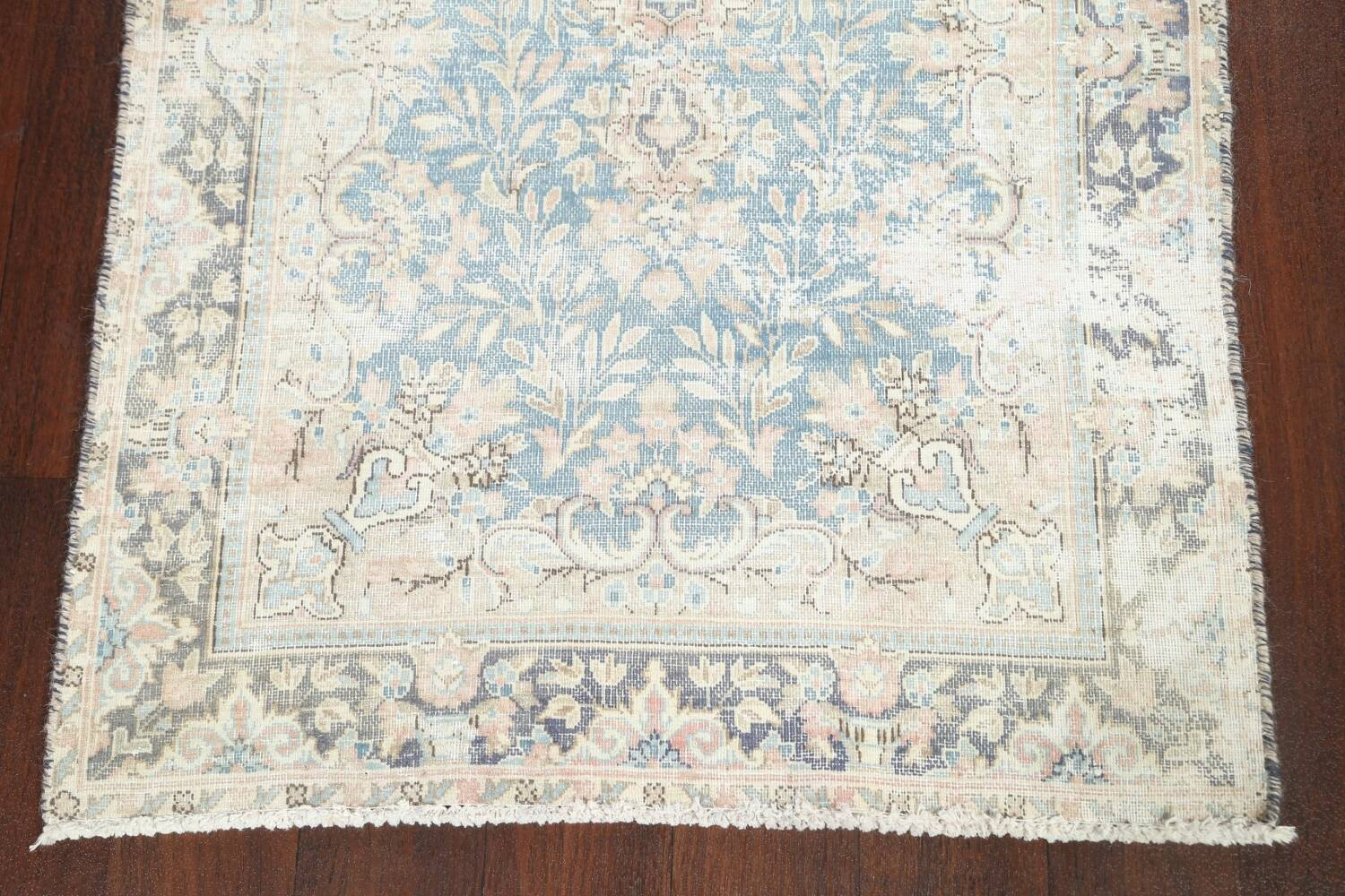 Antique Muted Distressed Kerman Persian Rug 3x5 image 5
