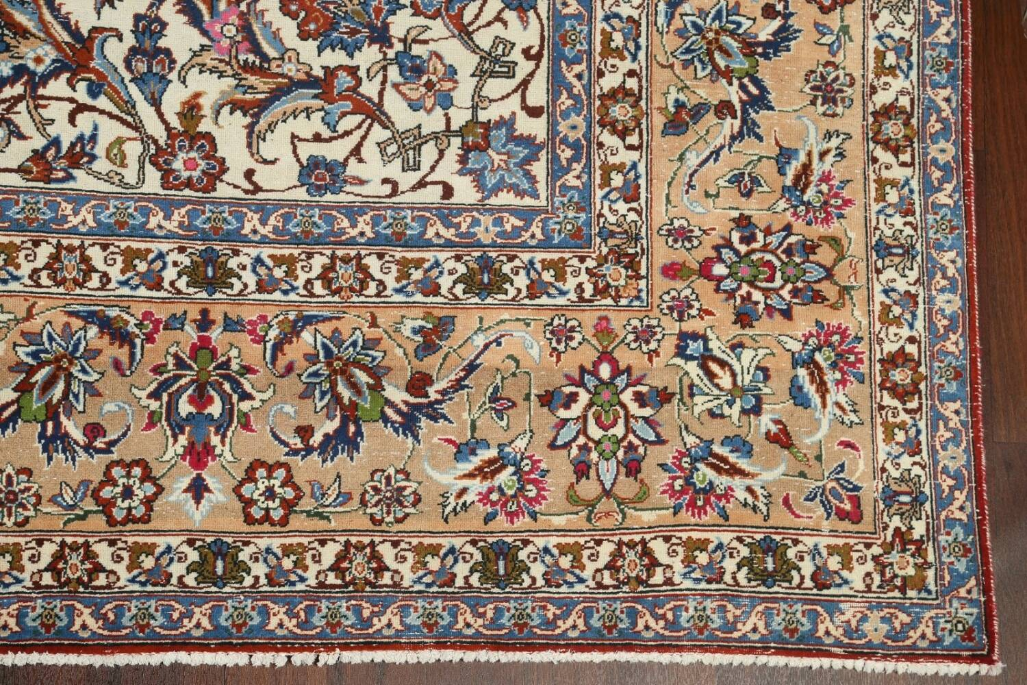 Antique Wool Oversized Isfahan Persian Rug 10x17 image 6