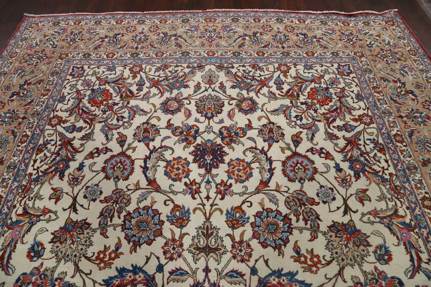 Antique Wool Oversized Isfahan Persian Rug 10x17 image 11