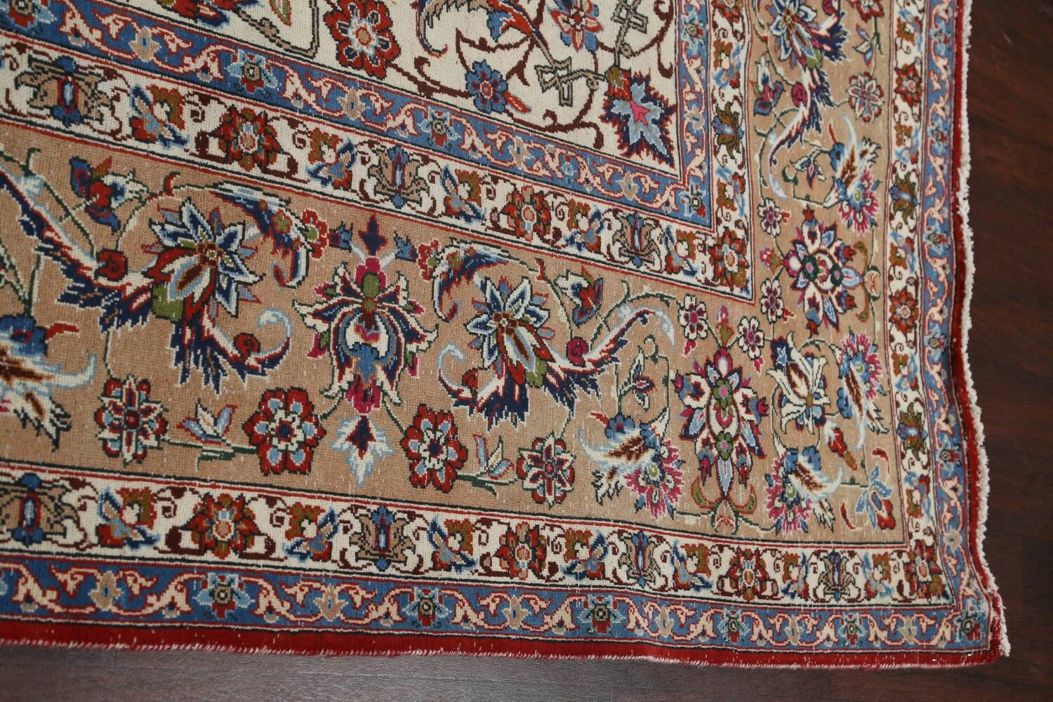 Antique Wool Oversized Isfahan Persian Rug 10x17 image 12