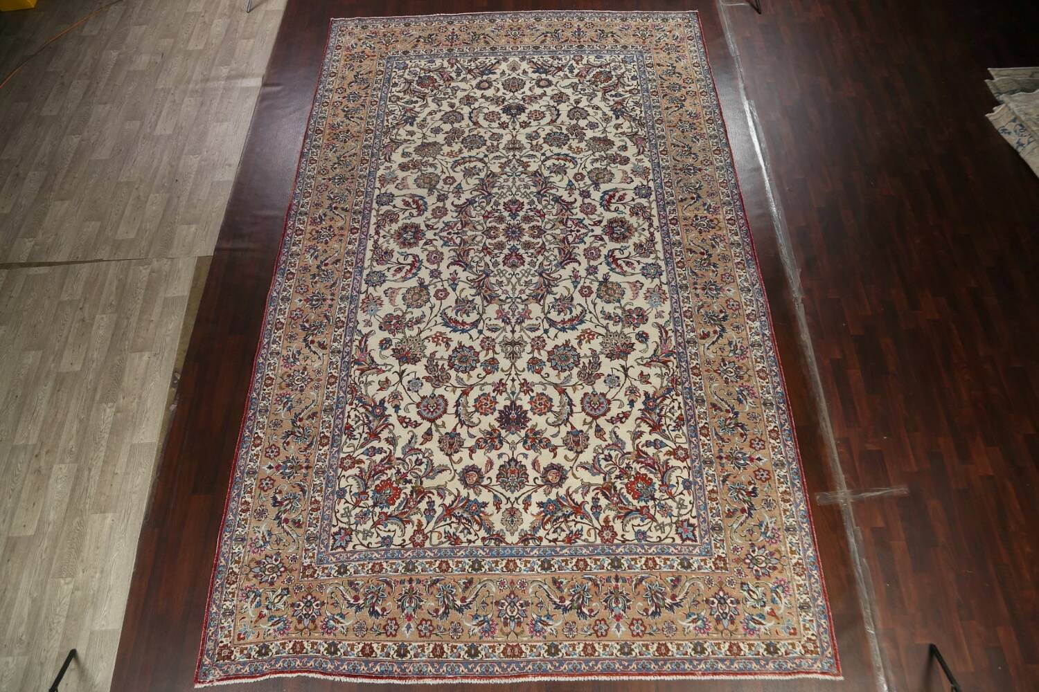 Antique Wool Oversized Isfahan Persian Rug 10x17 image 15