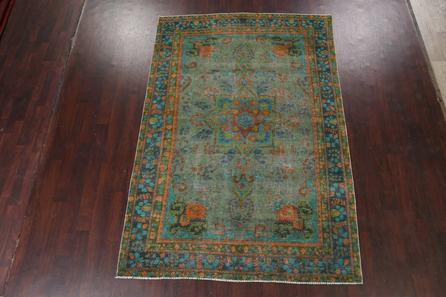 Antique Over-Dyed Distressed Tabriz Persian Area Rug 6x9 image 2