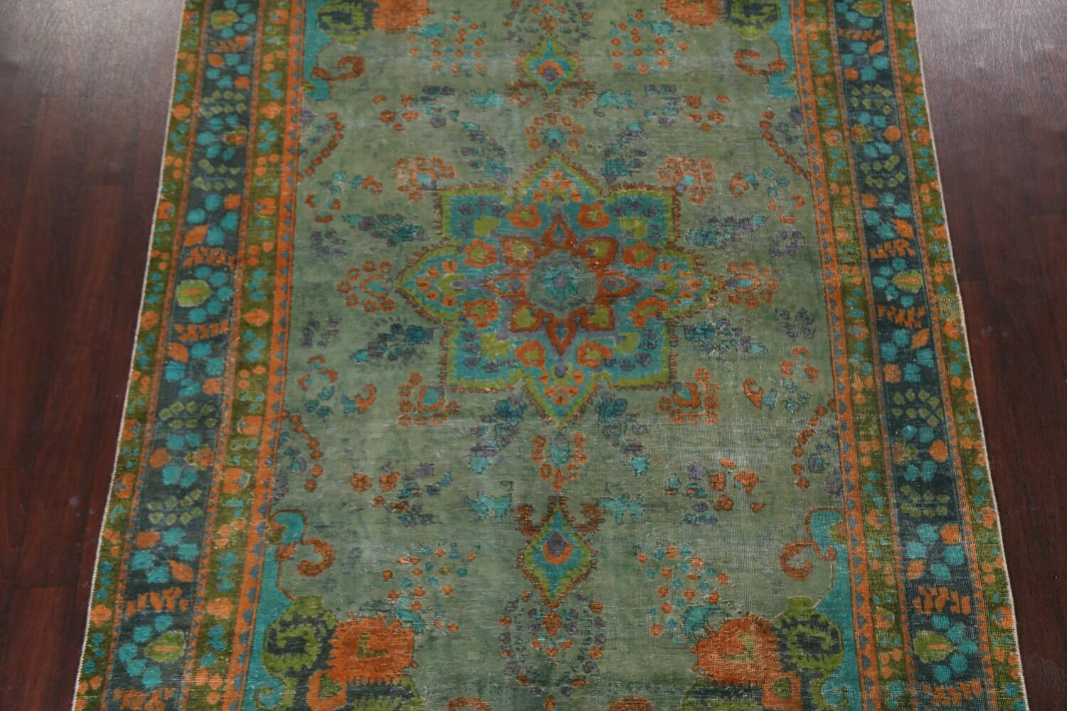 Antique Over-Dyed Distressed Tabriz Persian Area Rug 6x9 image 3