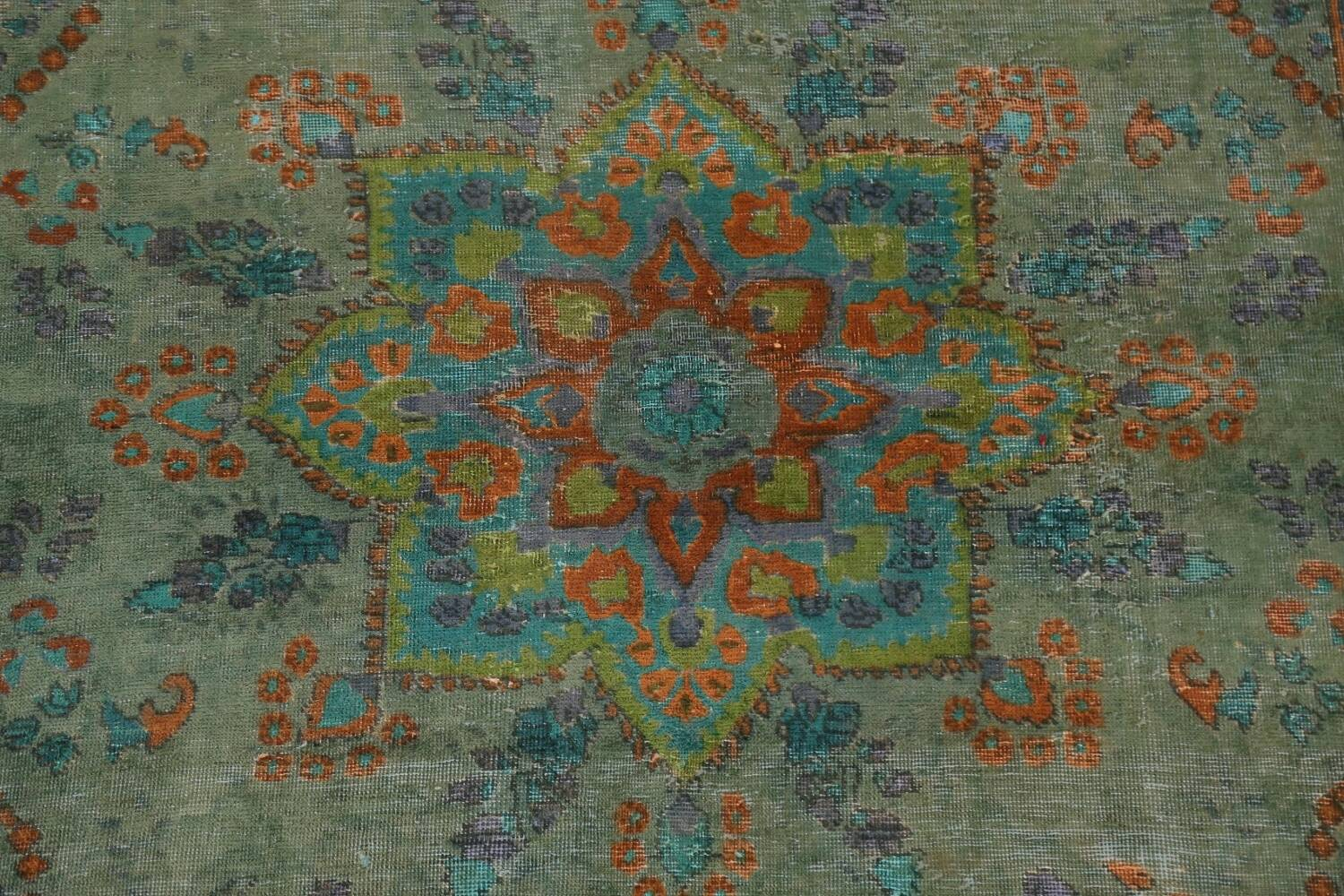 Antique Over-Dyed Distressed Tabriz Persian Area Rug 6x9 image 4